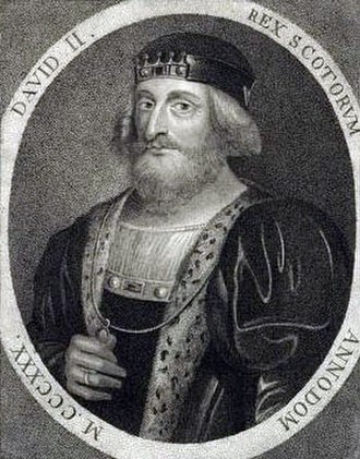 David II of Scotland - Later depiction of David II, by Sylvester Harding (published in 1797) —