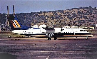 South African Express - A former SA Express Bombardier Dash 8-Q300 in old colors