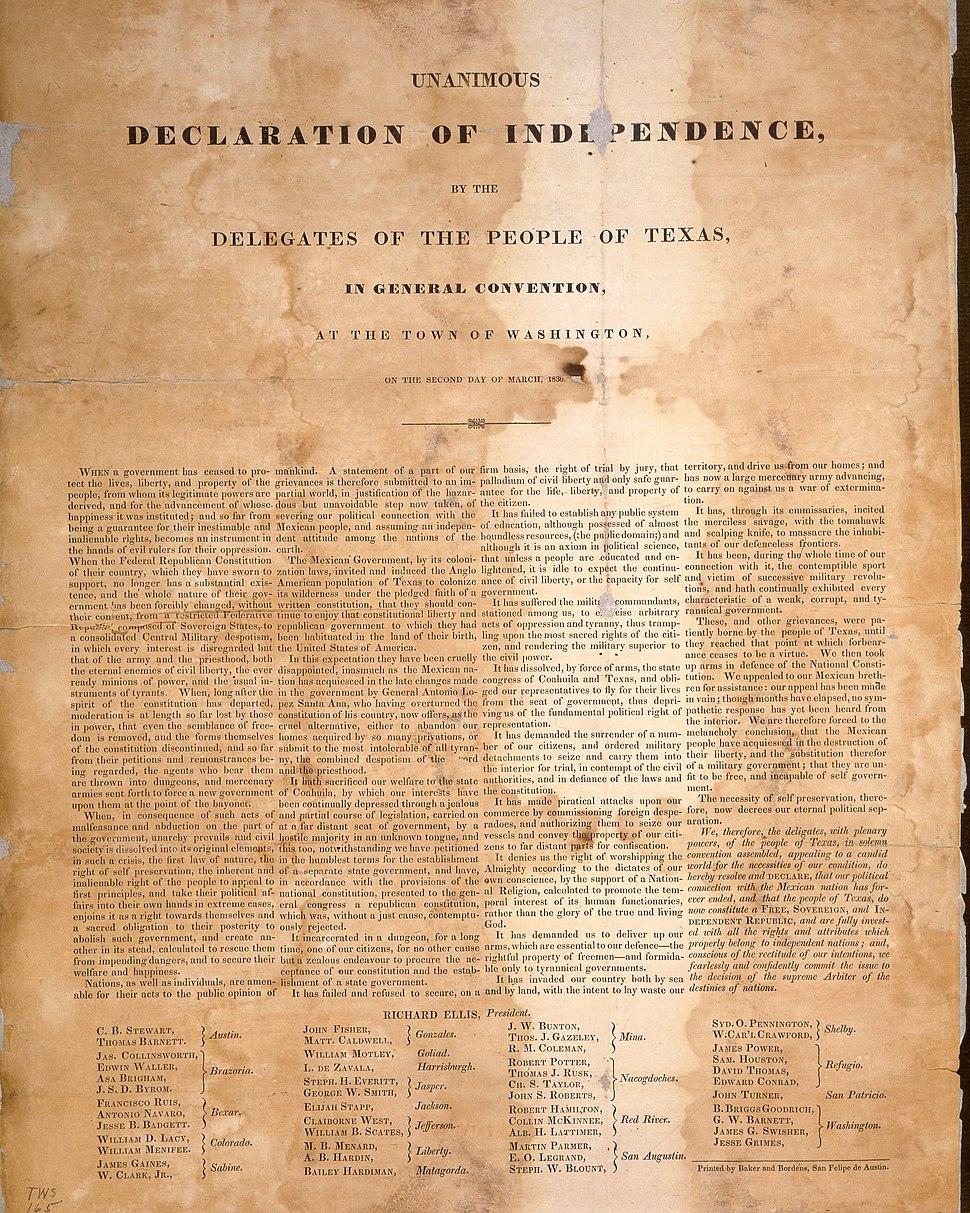 Declaration Broadside from transparency 1909 1 344