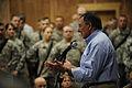 Defense.gov News Photo 110711-F-RG147-556 - Secretary of Defense Leon E. Panetta speaks to troops at Camp Victory, Iraq, on July 11, 2011.jpg