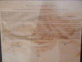 Constitution of Kosovo - Image: Deklarata e Pavaresise
