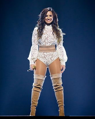 Future Now Tour - Lovato performing at the AT&T Center in San Antonio on September 10, 2016.
