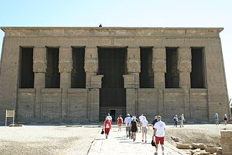 Dendera - Entrance to the temple.