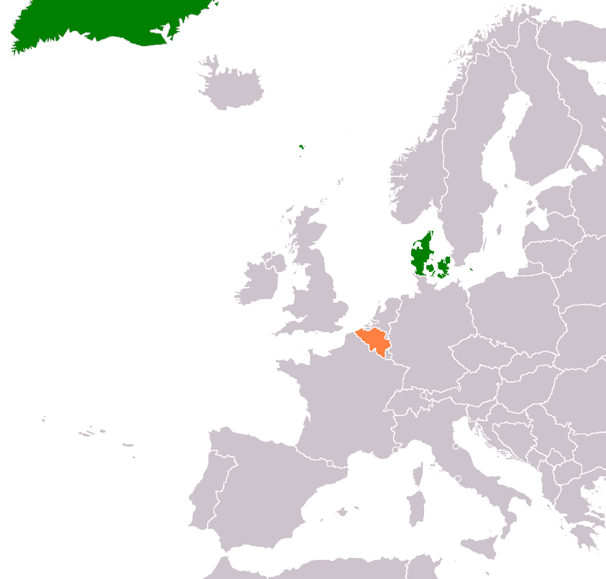 BelgiumDenmark Relations Wikipedia - Belgium map png