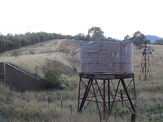 Water tank - Derelict water tank near Boorowa Railway, Galong
