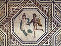 Detail of the Dionysus mosaic depicting a Maenad and a Satyr, from around A.D. 220 230, Romisch-Germanisches Museum, Cologne (8115564397).jpg