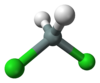 Ball and stick model of dichlorosilane