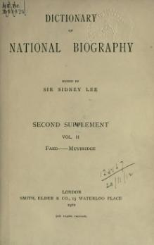 Dictionary of National Biography, Second Supplement, volume 2.djvu