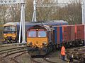 Didcot - DB Cargo 66206 and fGWR 165128.JPG