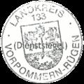 Dienstsiegel Landkreis Vorpommern-Rügen 133 Kreiswappen 2013.png