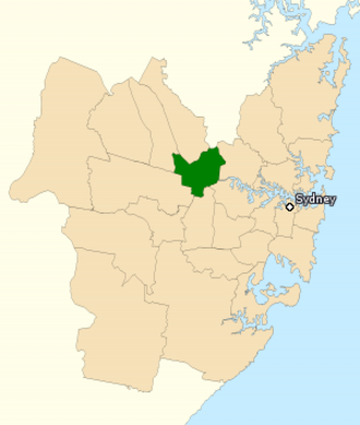 Division of Parramatta - Division of Parramatta in New South Wales, as of the 2016 federal election.