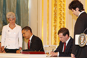 GRAND KREMLIN PALACE, MOSCOW. Signing of docum...