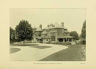Dolobran (Haverford, Pennsylvania) - Dolobran, circa 1890 (between the circa-1888 and 1894-95 expansions).