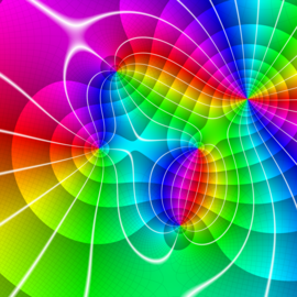 Domain Coloring Plot Of The Function Fx X2 1x 2 I2 2i Using Structured Color Described Below
