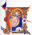 Don Silvestro dei Gherarducci - Gradual 1 for San Michele a Murano - A Prophet in an Initial A (Morgan Library & Museum, MS M.478, no. 10 (I.18)).jpg
