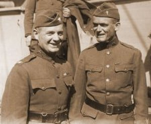 Francis P. Duffy - Father Duffy (right) with Colonel Donovan upon their return from France