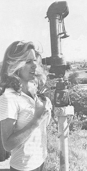 Miss Minnesota - Dorothy Benham, Miss Minnesota 1976 and Miss America 1977, during the Miss America USO show tour in Korea