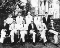 Dr Babasaheb Ambedkar with Professors of Government Law College, Bombay. (Sitting from left) AA Gyzee, TN Valavalkar, AB Vaidya and Dr Ambedkar. (Standing) SB Jathar, MS Vakil, NHC Coyazee, LF Rodrigues, RP Karve, Registrar.png