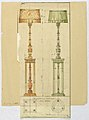 Drawing, Scaled drawing of two electric lamps, 1919 (CH 18460995).jpg