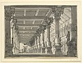 """Drawing, Stage Design, Hall in a Babylonian Palace for the Opera """"Ciro in Babylonia"""" by Gioacchino Rossini, 1818–19 (CH 18359655).jpg"""