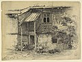Drawing, View of the Back of a Dwelling in Polling, Bavaria, 1876 (CH 18176355).jpg