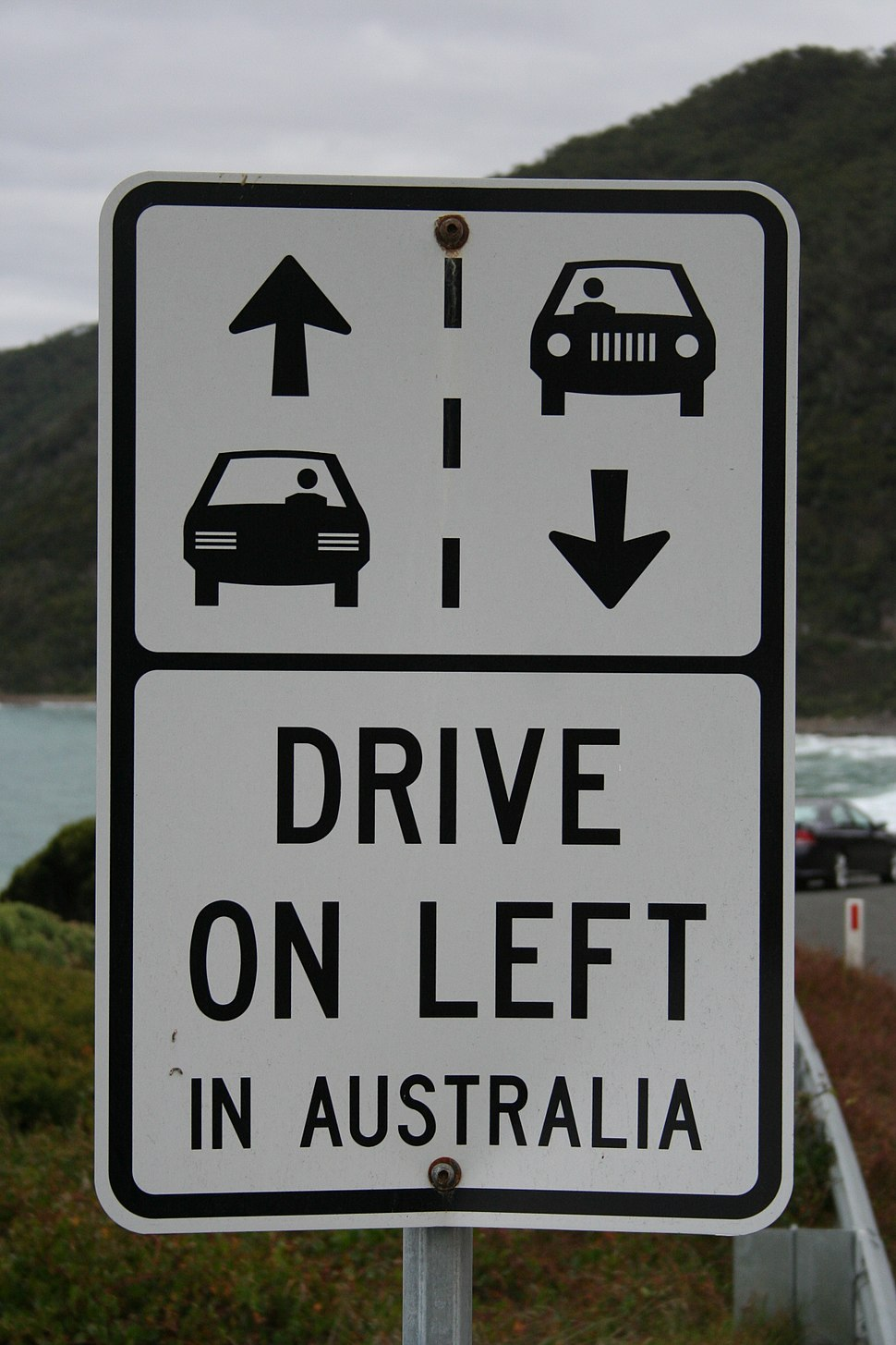 Drive on left in australia
