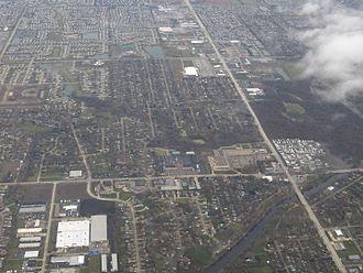 Shorewood, Illinois - 2013 aerial photograph of Shorewood