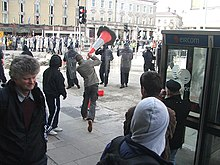 Rioting on the streets of Dublin in February 2006