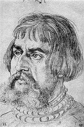 Lucas Cranach, porträtiert von Albrecht Dürer 1524 (Quelle: Wikimedia)