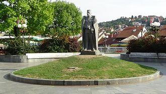 Valjevo - Image: Duke Zivojin Misic Statue Valjevo