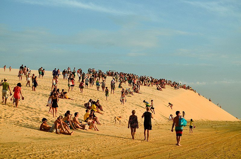 Pôr do sol nas dunas de Jeri