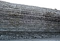 Dundee Limestone over Lucas Dolomite (Middle Devonian; Auglaize Quarry, near Junction, Ohio, USA) 9 (48888460268).jpg