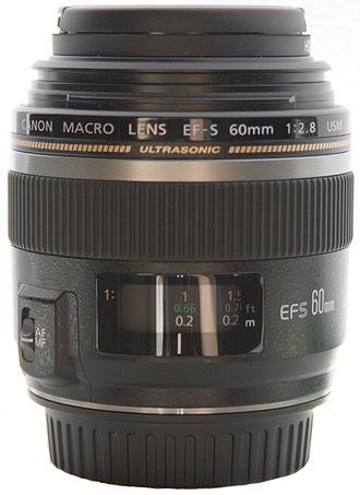 Canon EF-S 60mm f/2.8 Macro USM lens - Image: EF S 60mm Macro USM