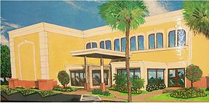 Rendering of Executive National Bank's renovat...