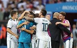 Футбольный матч испании