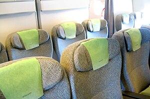 Premium economy - Image: EVA Air's 777 Elite Class