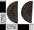 Early Medieval coin, cut halfpenny of Edward the Confessor (FindID 400118).jpg