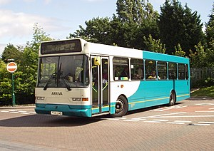 East Lancs Flyte - Arriva North West East Lancs Flyte bodied Scania L113CRL in Merseyside in July 2007