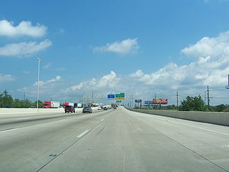 Interstate 94 in Indiana - The Borman Expressway in Hammond, approaching exit 3