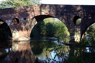 Tenbury Wells - Eastham Bridge near Tenbury, which collapsed in May 2016