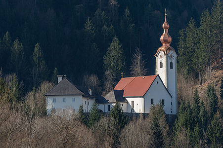 Collegiate church Saint Martin and provost house in Gurnitz, Ebenthal, Carinthia, Austria