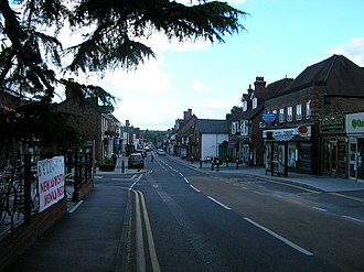 London to Lewes Way - Edenbridge is built along the road