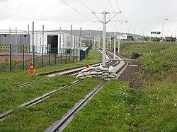 Edinburgh Tram practice track (geograph 3093362).jpg
