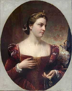 Édouard De Bièfve - Portrait of Alexandra of Denmark