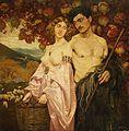 Edward Okuń - Autoportret z Sycylijką,Granaty.jpg