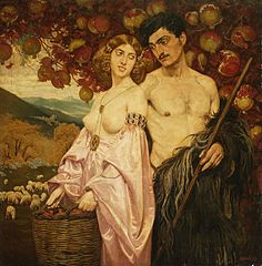 Self-portrait with Sicilian woman (Pomegranates)