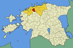 Saku Parish within Harju County.