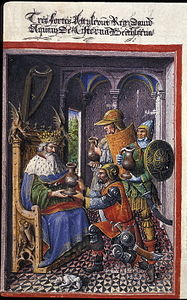 Egerton hours - David et les 3 vaillants - BL eg1070 f139.jpg