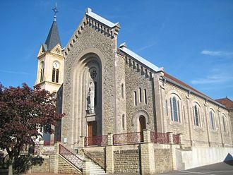 Angevillers - The church in Angevillers