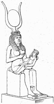 La Diosa Isis-Sotis amamantando a su hijo Horus
